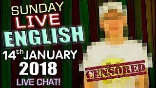 LIVE English Lesson - 14th January 2018 - Censorship - Shakespeare - Tea or Coffee? - Crime