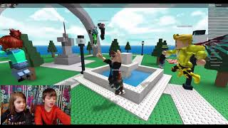 Roblox Natural Disaster Survival- 2 Players! Who can survive better?