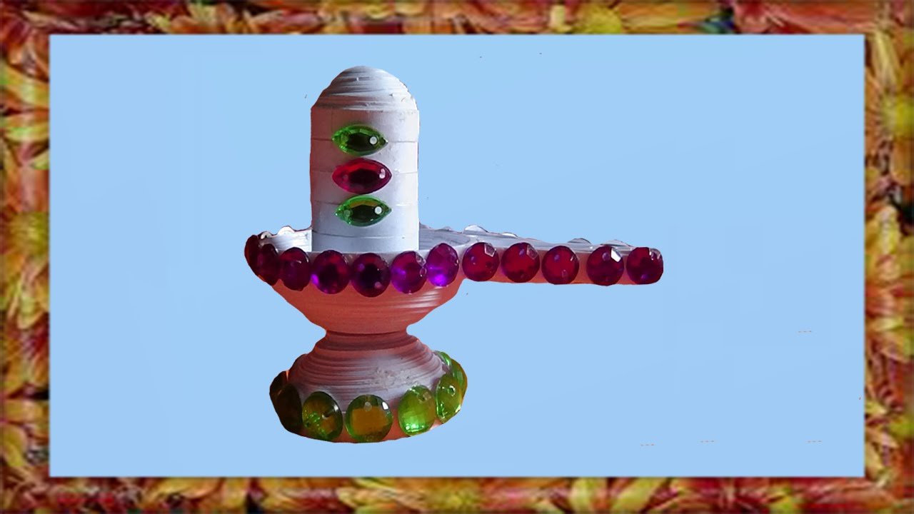 Papercraft paper quilling Shivalingam made easy