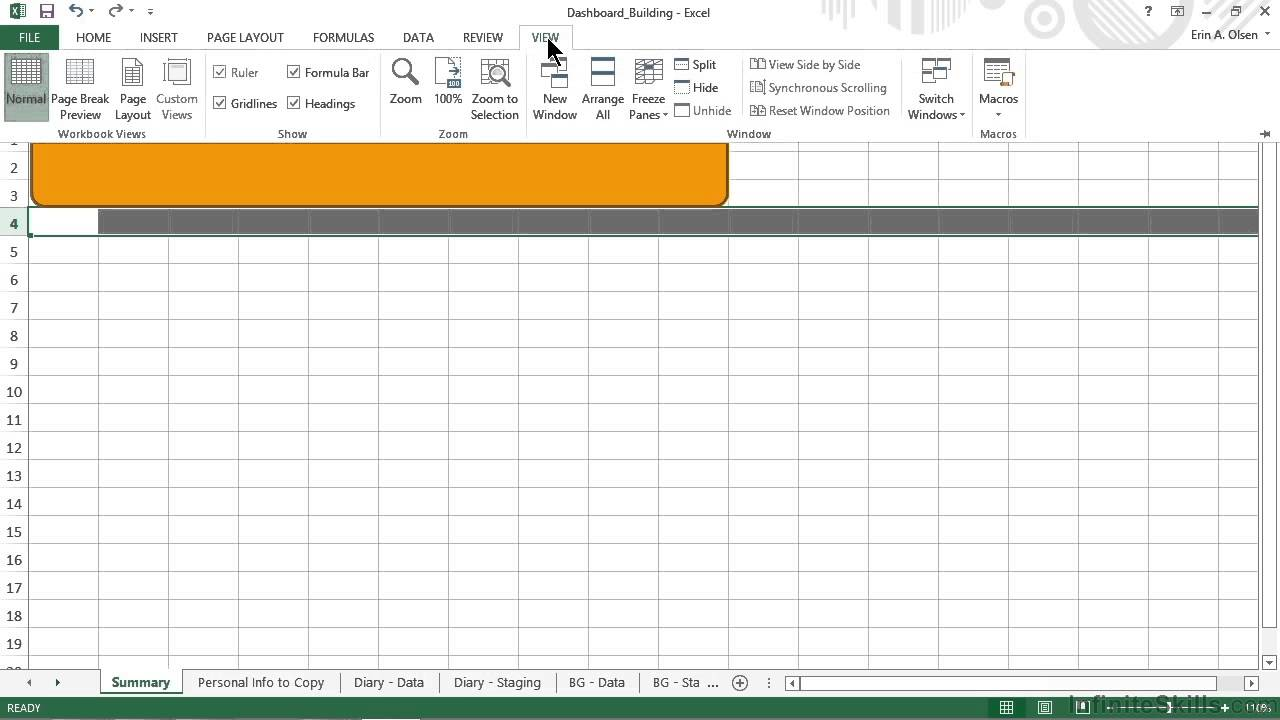 Dynamic Dashboards in Excel Tutorial | Creating The Navigation Bar Pt 1/3
