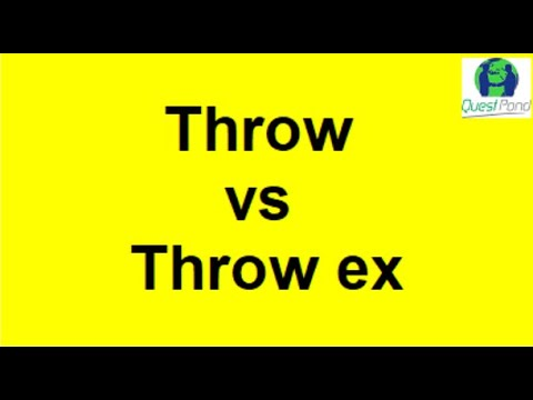 throw vs throw ex in c# - Interview Questions | Csharp Interview Questions and Answers