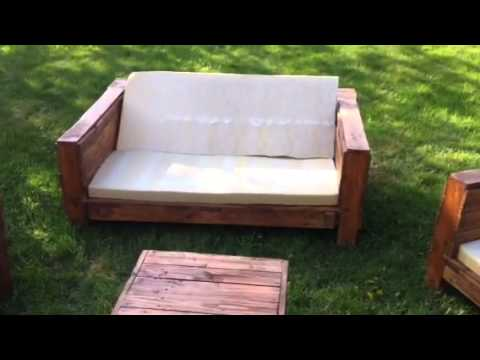 Salon de jardin palette dunlopillo youtube - Plan salon de jardin en bois ...