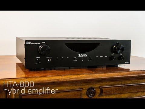 HTA-800 hybrid amplifier by TAGA Harmony - YouTube