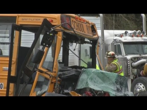 Mercy Flight transports school bus driver from scene