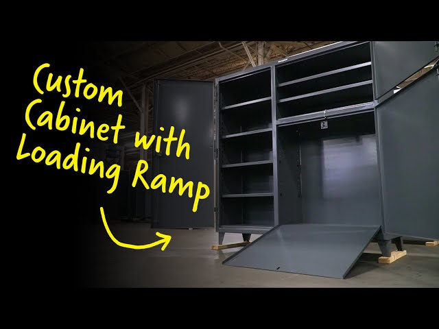 Custom Cabinet with Loading Ramp | Strong Hold