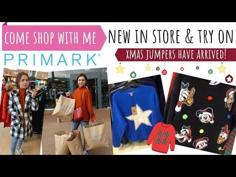 COME PRIMARK SHOPPING WITH ME / NEW IN NOVEMBER AUTUMN 2018 / CHRISTMAS JUMPERS & WINTER ACCESSORIES