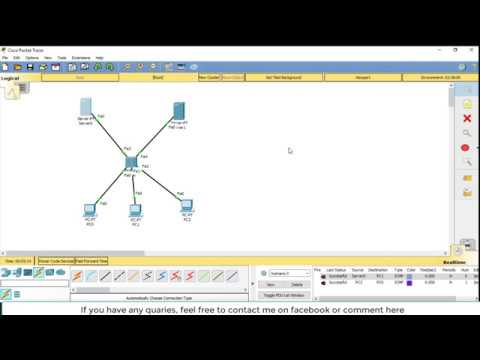 Networking : How To Configure DHCP, DNS Servers In Cisco Packet Tracer