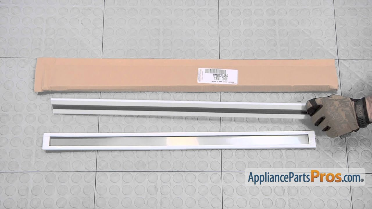Refrigerator Door Shelf Bar (part #WPW10421486) - How To Replace & Refrigerator Door Shelf Bar (part #WPW10421486) - How To Replace ...