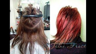 Подробный видеоурок: Мелирование волос |  Схема техника и рецепт