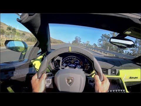2020 Lamborghini Aventador SVJ Roadster POV Drive (3D Audio)(ASMR)
