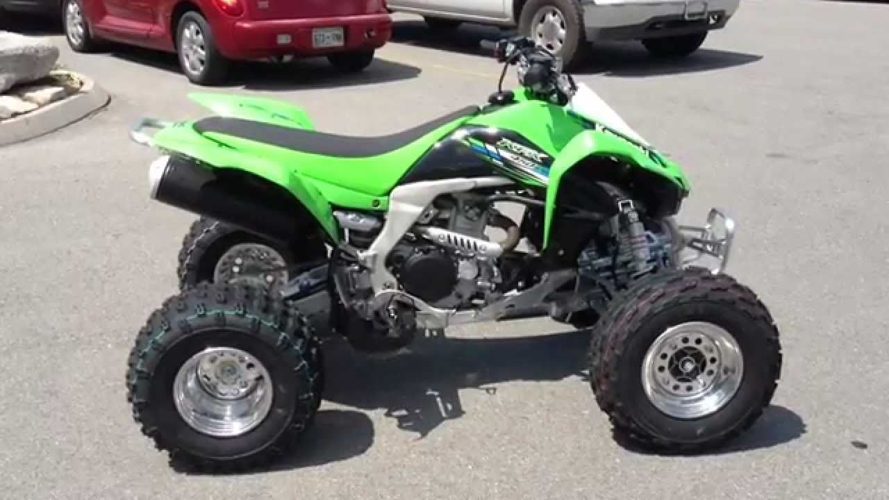 2013 Kawasaki KFX450R In Lime Green At Tommy's MotorSports - YouTube