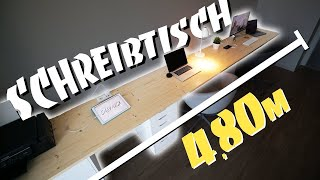 XXL SCHREIBTISCH DIY - Perfect Work Space | EASY ALEX