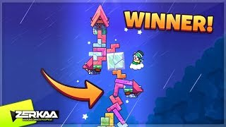 I Won A GAME With The WORST TOWER EVER! (Tricky Towers)