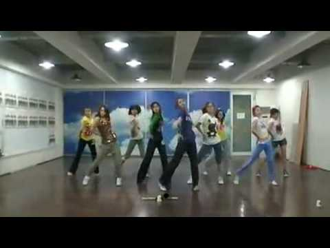 SNSD - Genie Demo ver. (I Just Wanna Wish) Practice Room Jun08.2009 GIRLS' GENERATION