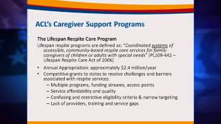 July 2014 Meeting - Advisory Council on Alzheimer's: ACL Family Caregiver Support Programs