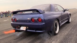 680HP Nissan Skyline GT-R R32 - BRUTAL Launch Control Accelerations!