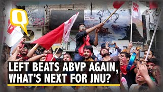 JNU Goes Red Again, Left & ABVP React to Student Polls Verdict | The Quint