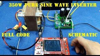 350W Pure Sine Wave Inverter Full PIC code Schematic Oscilloscope Test