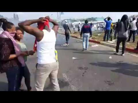 Gabon - crise post electorale émeutes à libreville election 2016