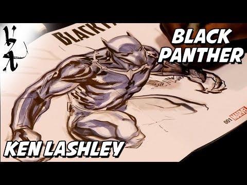 Ken Lashley drawing Black Panther