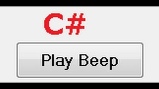 C# Tutorial 33: Make Application to Beep and  How to add a delay in seconds