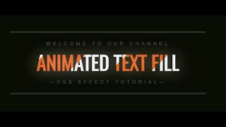 Animated Text Filling  Effect With Pure CSS-HTML & CSS-CSS Tutorial