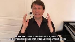 Mes cours de direction d'orchestre 9 - Our conducting orchestral course 9 Laurent Pillot