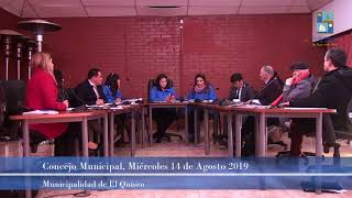 Concejo Municipal El Quisco 14 de agosto.