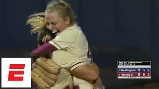 Florida State sweeps Washington to win first Women's College World Series title | ESPN