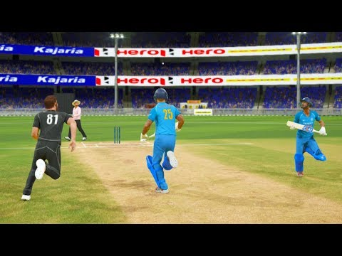India vs New Zealand - 2nd ODI Match - Don Bradman Cricket 17