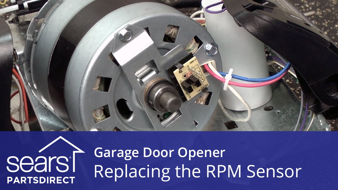 small resolution of replacing the rpm sensor on a garage door opener
