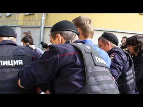 Задержание Навального- кандидата в мэры Москвы у  Избирательной комиссии Москвы