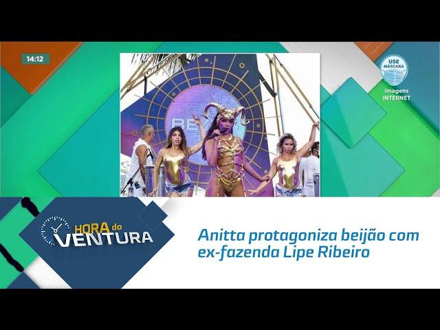 Anitta protagoniza beijão com ex-fazenda Lipe Ribeiro no reality 'Ilhados'
