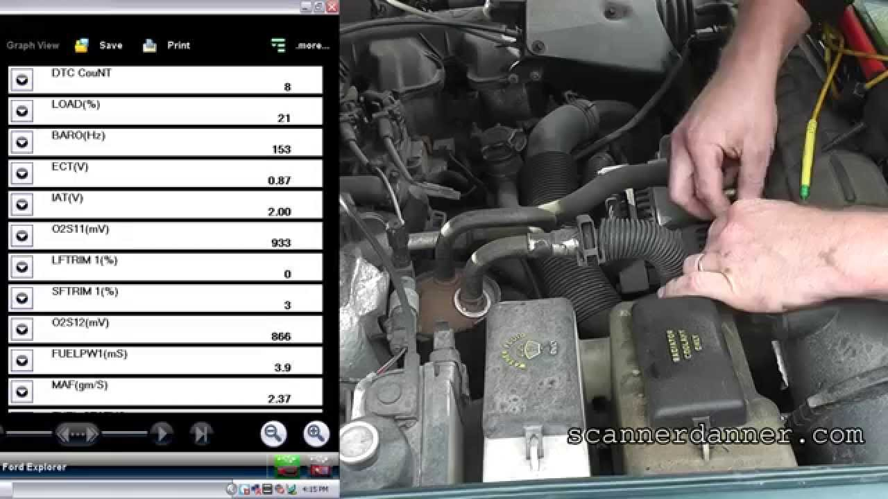 How to test a Ford MAF sensor  YouTube
