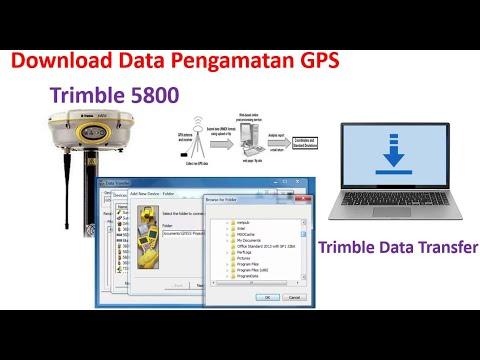 Tutorial Download Data GPS (Trimble 5800) Menggunakan Data Transfer