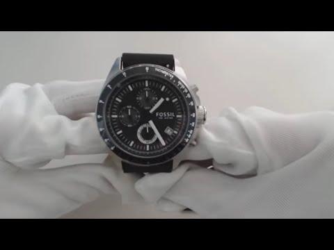 Men's Black Fossil Decker Chronograph Watch CH2573