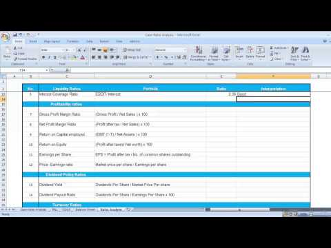 Ratio Analysis, Financial Ratio Analysis in Excel