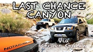 Last Chance Canyon, Goler Gulch, The Narrows, Schmidt Tunnel and Graduation Hill