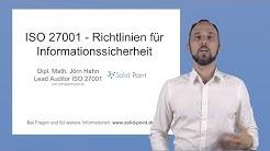 ISO 27001 - Richtlinien für Informationssicherheit, was wirklich wichtig ist!