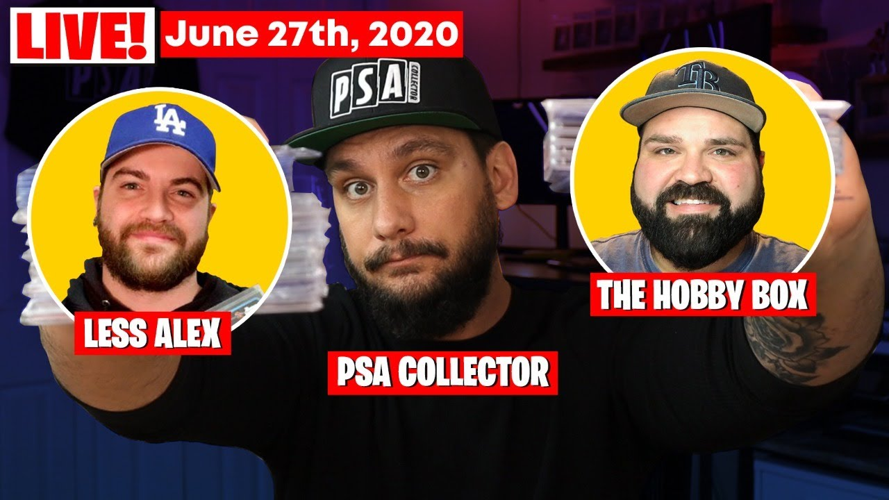 Live! Sports Card Investing Chat with Less Alex & The Hobby Box!