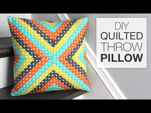 How To Make A Quilted Throw Pillow YouTube Amazing How To Make A Quilted Throw Blanket