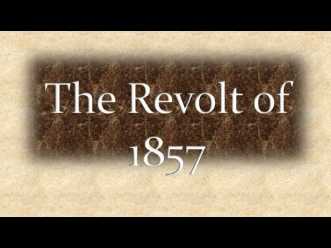 Modern Indian history-Revolt of 1857