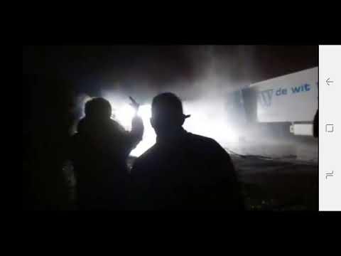 Police vs camion feluy belgique 2018