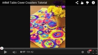 Artfelt Table Cover Coasters Tutorial