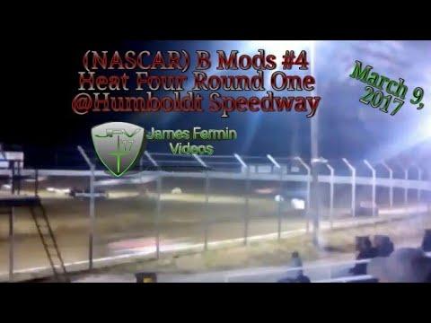 B Mod #4, Round 1 Heat 4, Thursday Night, Humboldt Speedway, 2017