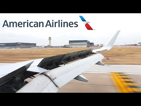 American Airlines Airbus A319 Landing In Dallas/Fort Worth (DFW)