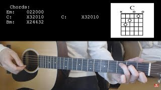 Billie Eilish Ft. Khalid - Lovely EASY Guitar Tutorial With CHords / Lyrics