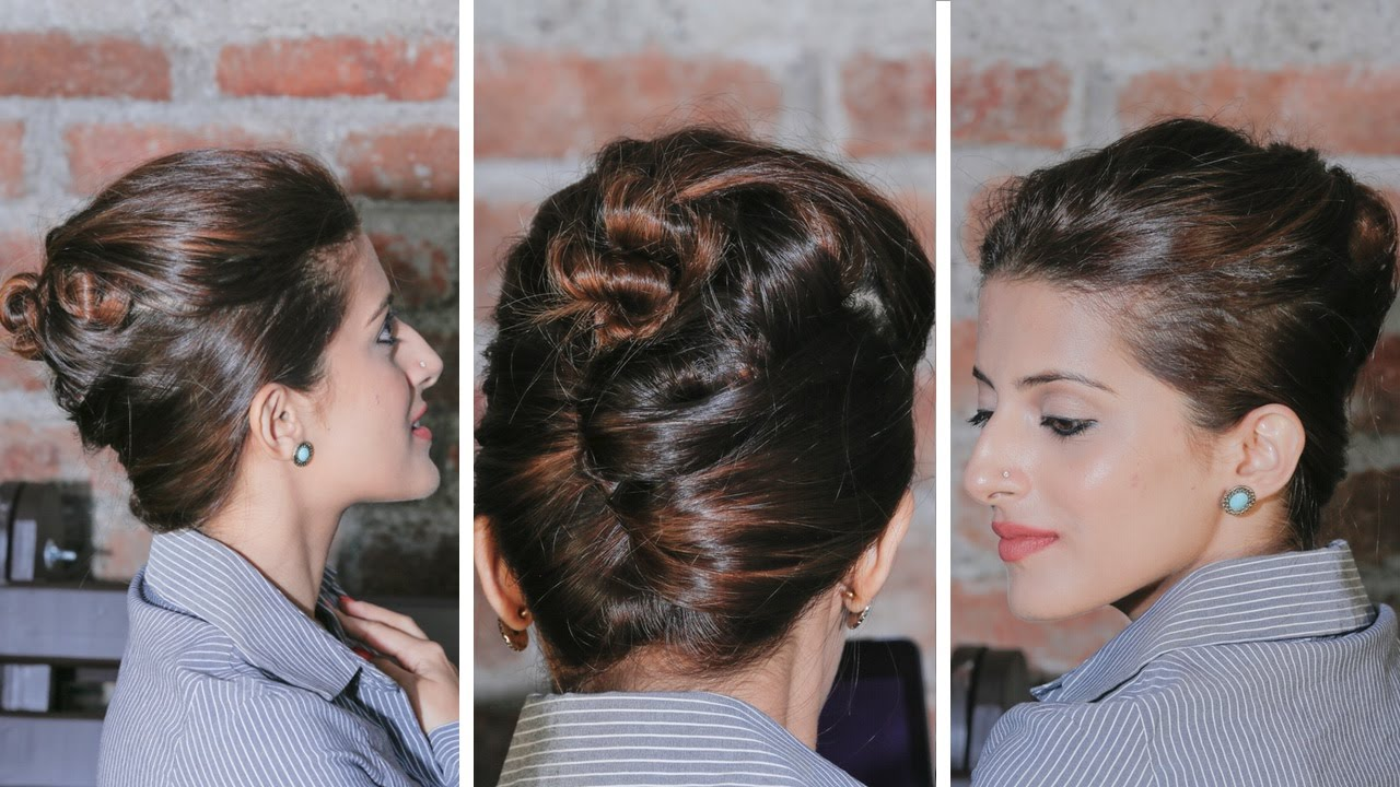 Quick And Easy French Twist Bun Updo Updo Hairstyles Youtube