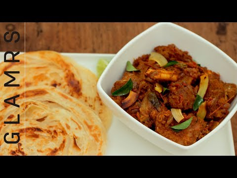 Kerala Style Spicy Mutton Roast with Flakey Laccha Paratha | Delicious Dinner Recipe