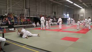 Erika Tummers 1 kyu examen Judo Ne-Waza Uke Peter Tummers eigen programma